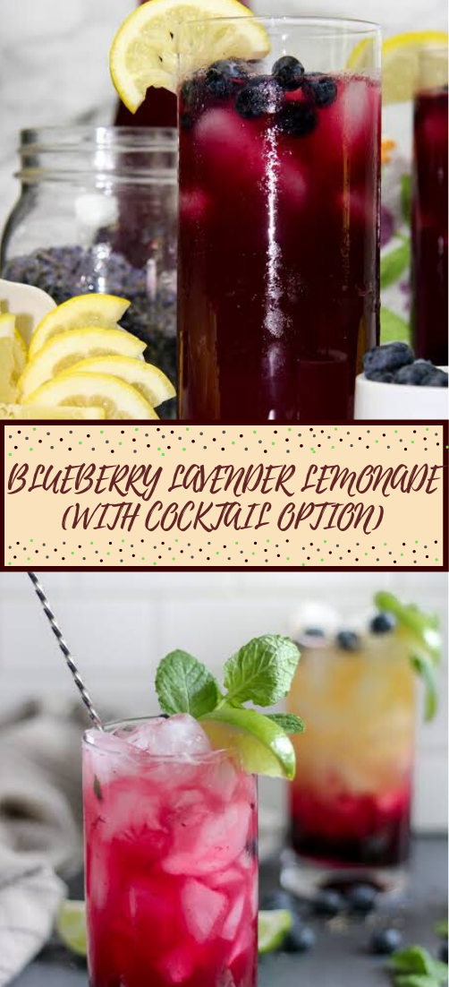 BLUEBERRY LAVENDER LEMONADE (WITH COCKTAIL OPTION)  #healthydrink #easyrecipe #cocktail #smoothie