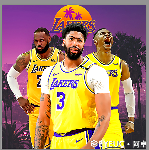 NBA 2K21 LOS ANGELES LAKERS UPDATED MURAL with WESTBROOK BY Ajo