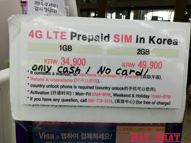Sim Kad Murah Seoul Korea