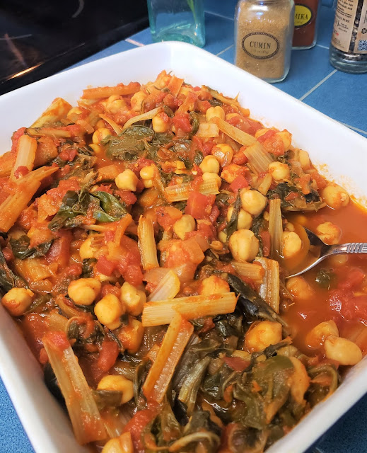 chickpea Swiss Chard stew