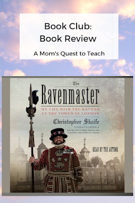 Text: Book Club: Book Review; image of book cover of The Ravenmaster