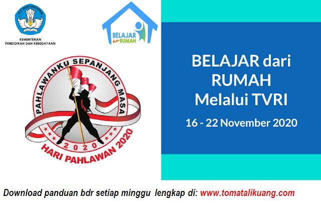 panduan belajar dari rumah bdr tvri tanggal 19 20 21 22 23 24 25 oktober 2020 tomatalikuang.com