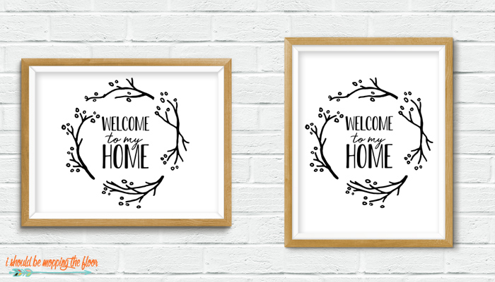 Welcome to My Home Printable