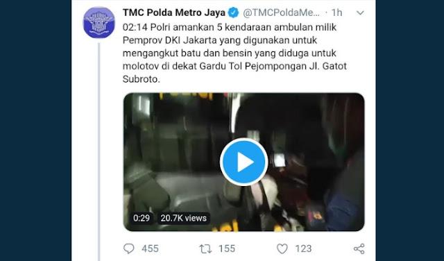 TMC Polda Metro Ambulans