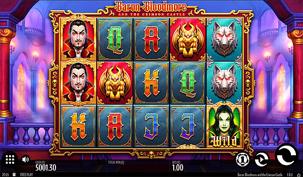 Main Gratis Slot Indonesia - Baron Bloodmore and the Crimson Castle (Thunderkick)