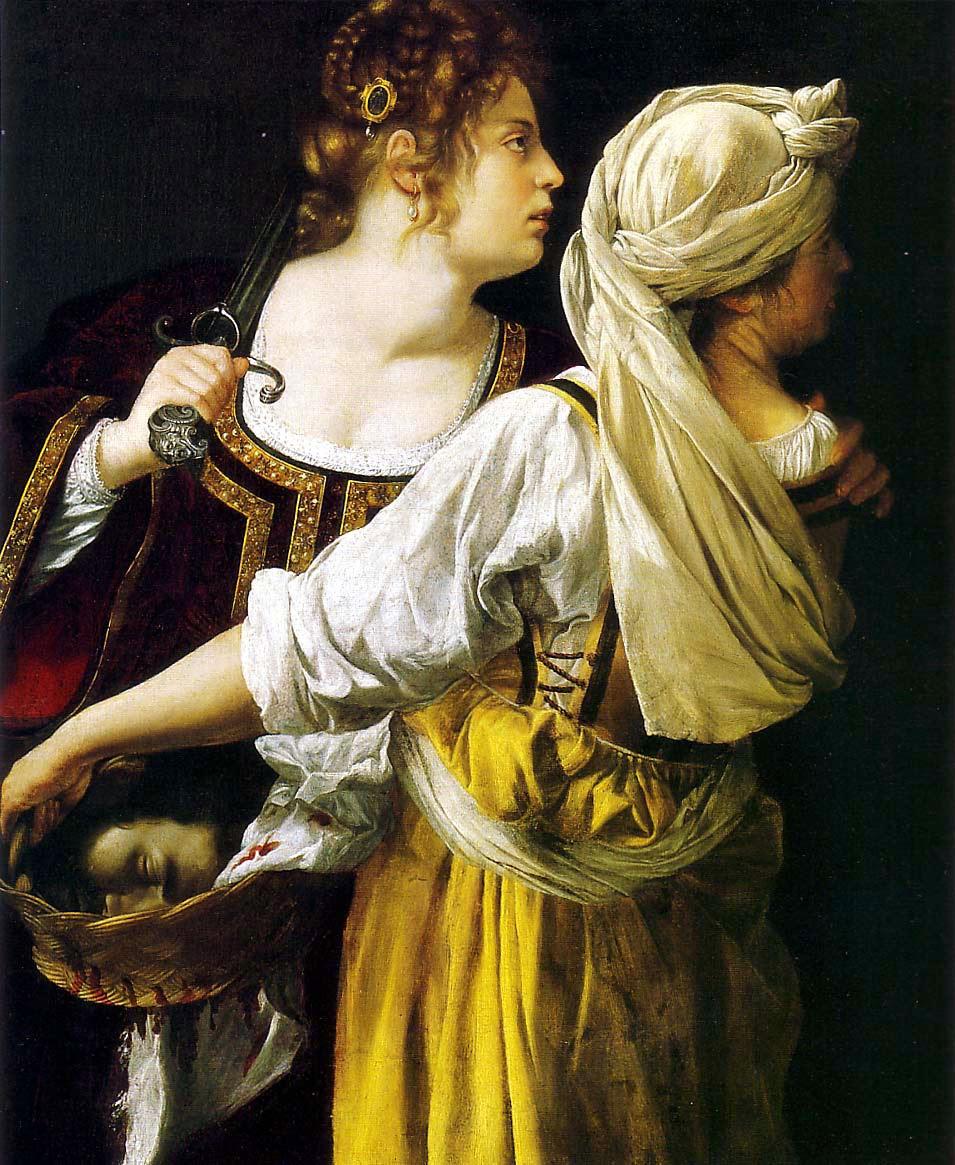 Judite Holofernes Artemisia Gentileschi - Artemisia Gentileschi - os pintores caravaggescos