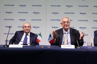 """NAVIRIS"""" è il nome della joint venture tra Naval Group e Fincantieri"""