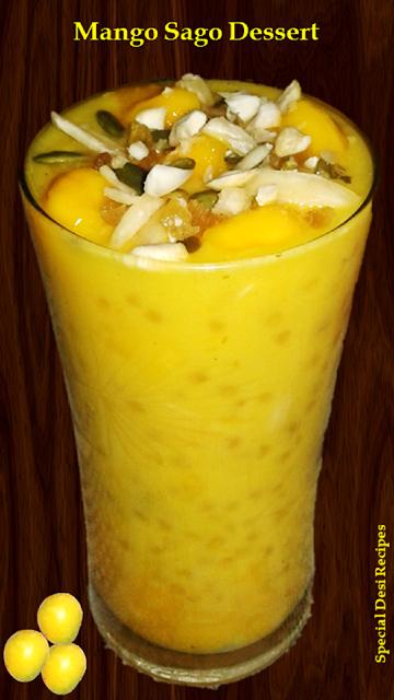 Mango sago kheer special desi recipes
