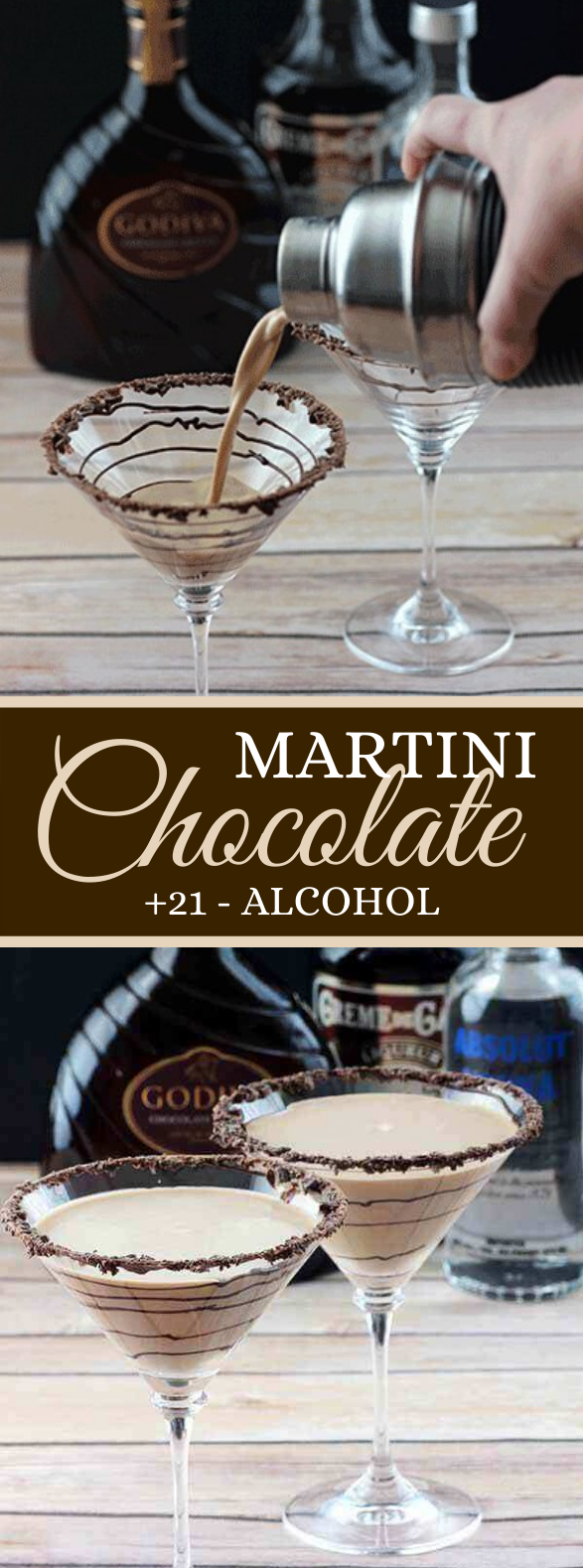 CHOCOLATE MARTINIS #drinks #cocktails