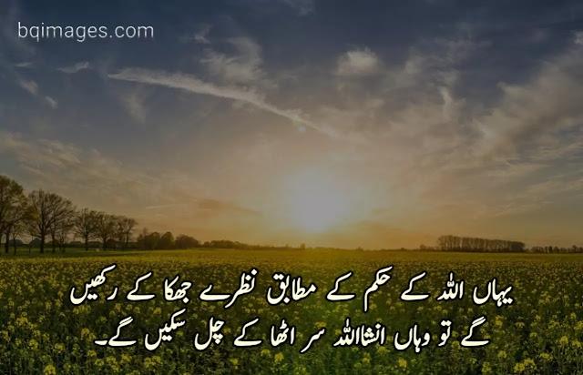 golden words in Urdu text