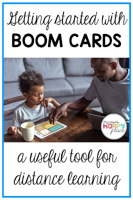picture of boy playing Boom Cards Ways to Make Ten with his parent