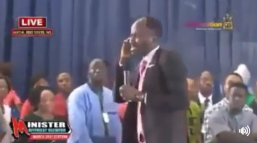 Video: Apostle Suleman refers to members of his church doubting his integrity as demons