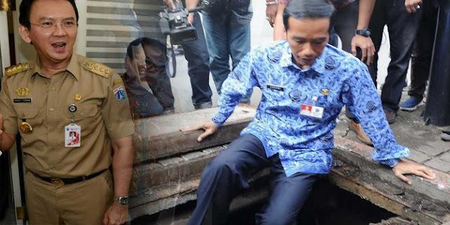 Terlalu! Jokowi Masuk Got, Ahok 'Cuma' Perintah Sana Sini
