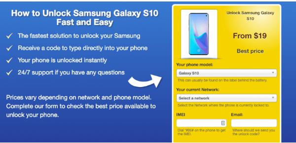 Cara Membuka Kunci Pada Samsung Galaxy S10 3