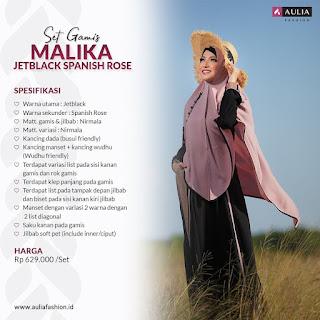 Koleksi Gamis Set Syari Aulia  Malika Jetblack Spanish Rose