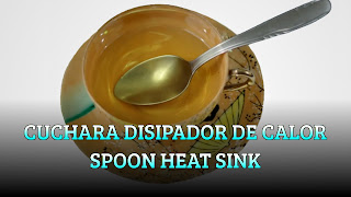 Cuchara disipador de calor, THERMODYNAMICS, Spoon heat sink