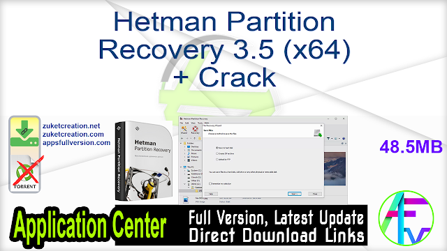 Hetman Partition Recovery 3.5 (x64) + Crack