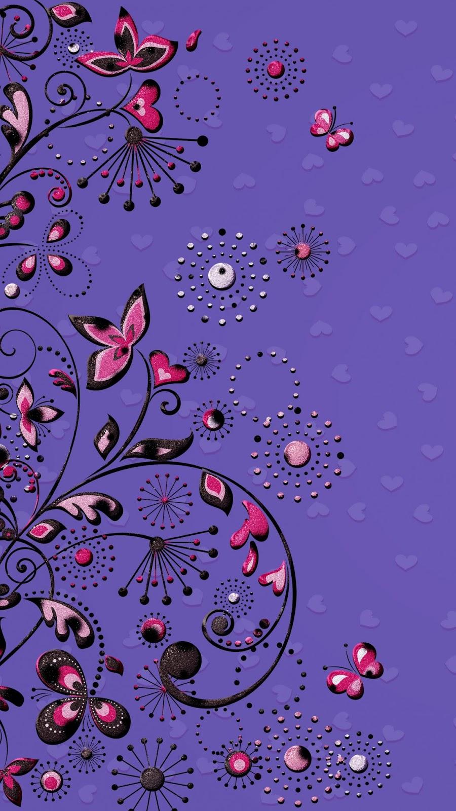 flower violet plant pattern purple