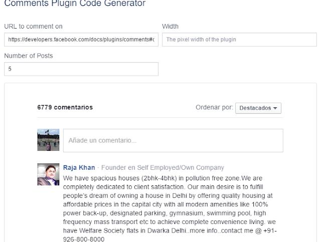 Caja de Comentarios de Facebook para Blog. 10