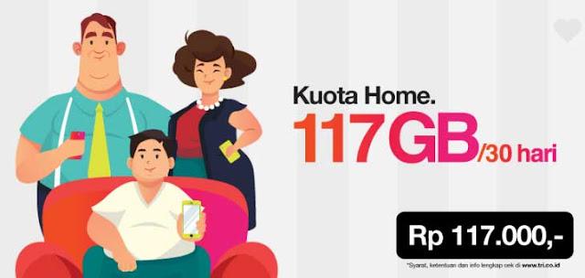 Review Kuota Tri Home 117GB Kuota Besar Gak Habis Habis