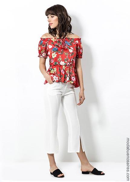 Moda blusas primavera verano 2019. Ropa de mujer primavera verano 2019.