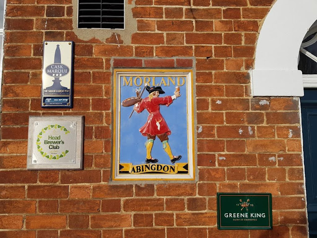 A Morland Brewery Plaque at the Old Anchor Inn beside the River Thames