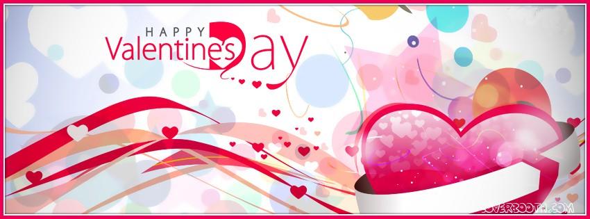 happy valentines day beautiful design facebook cover اجمل كفرات عيد الحب 2015 كفرات بمناسبة عيد الحب 2015