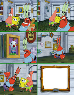 Polosan meme spongebob dan patrick 123 - cat anti air tuan krab yang luntur