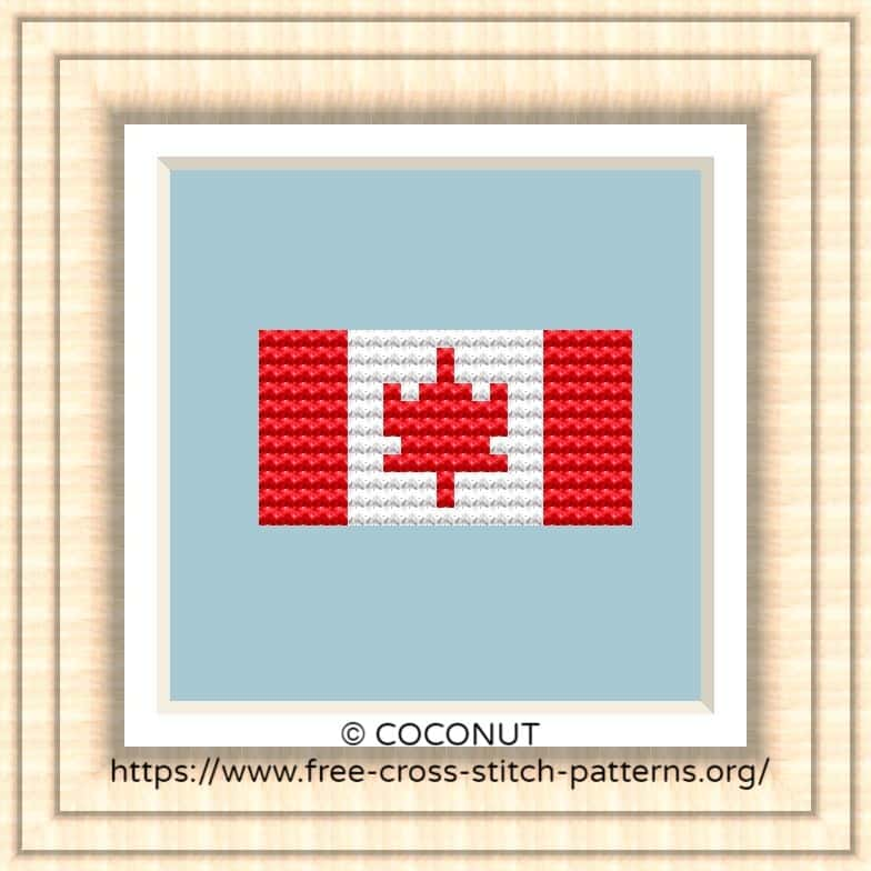 NATIONAL FLAG OF CANADA CROSS STITCH CHART