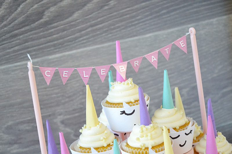 Aly Dosdall Diy Unicorn Party Cupcake Wraps And Toppers