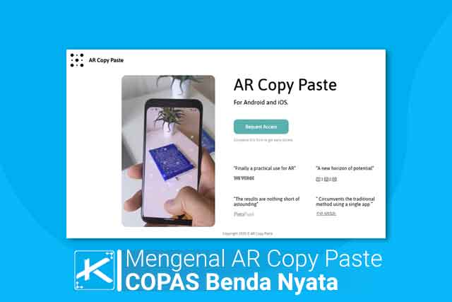 Apa itu AR Copy Paste? AR Copy Paste adalah aplikasi yang memungkinkan penggunanya untuk copy paste (copas) benda nyata menjadi gambar pada komputer.