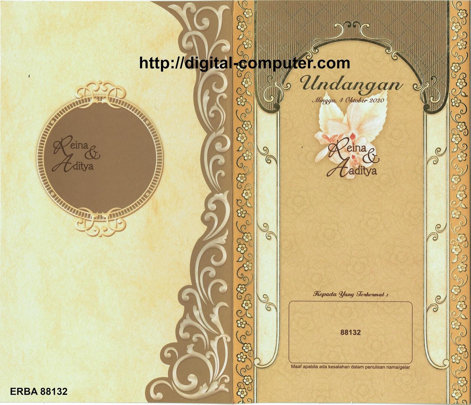 undangan pernikahan harga 2500 rupiah