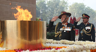 Army Chief General Bipin Rawat paying homage to martyrs  at Amar Jawan Jyoti