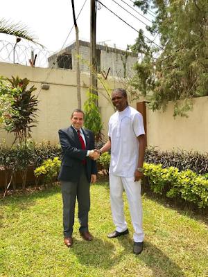 Kanu Nwankwo Received By The Isreal Ambassador