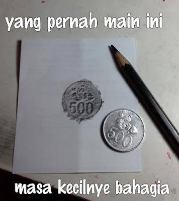 kenangan masa lalu menggambar koin