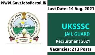 Govt Jobs for 213 Jail Guard Jobs in UK