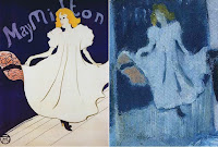 Poster of May Milton by Henri de Toulouse-Lautrec, created in 1895, and inspired Picasso's The Blue Room painting via woman.