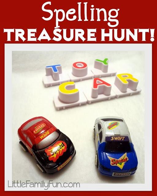 http://www.littlefamilyfun.com/2012/06/spelling-treasure-hunt.html