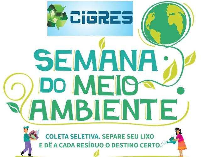 Na semana do meio ambiente Cigres alerta para a importância da separação correta do lixo