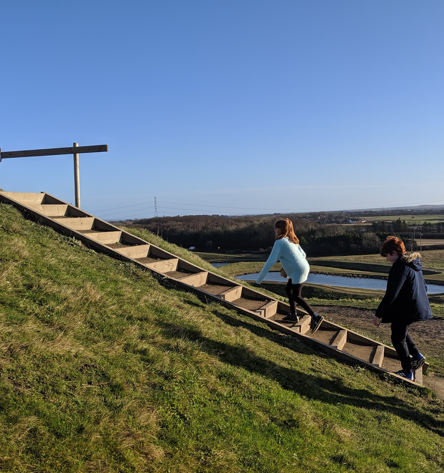 A Guide to Visiting Northumberlandia - steps to top