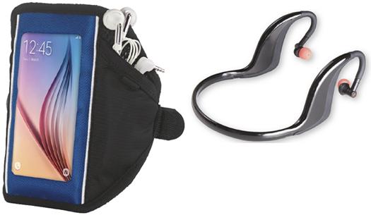 brazalete para móvil y auriculares deportivos Lidl accesorios running
