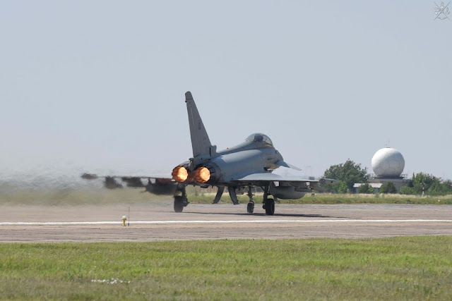 Scramble Romania Eurofighter italiani