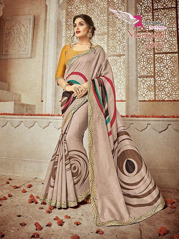 MARIGOLD-New Arrival Designer Bhagalpuri Saree