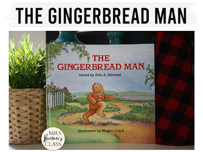 Gingerbread Man book study literacy unit with Common Core aligned companion activities and a craftivity for K-1