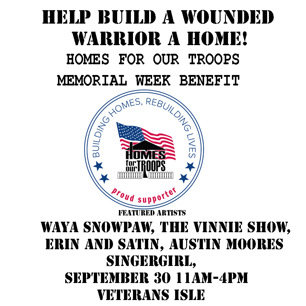 frets nirvana and us military veterans group announce the 2018 september benefit for homes for our troops in second life