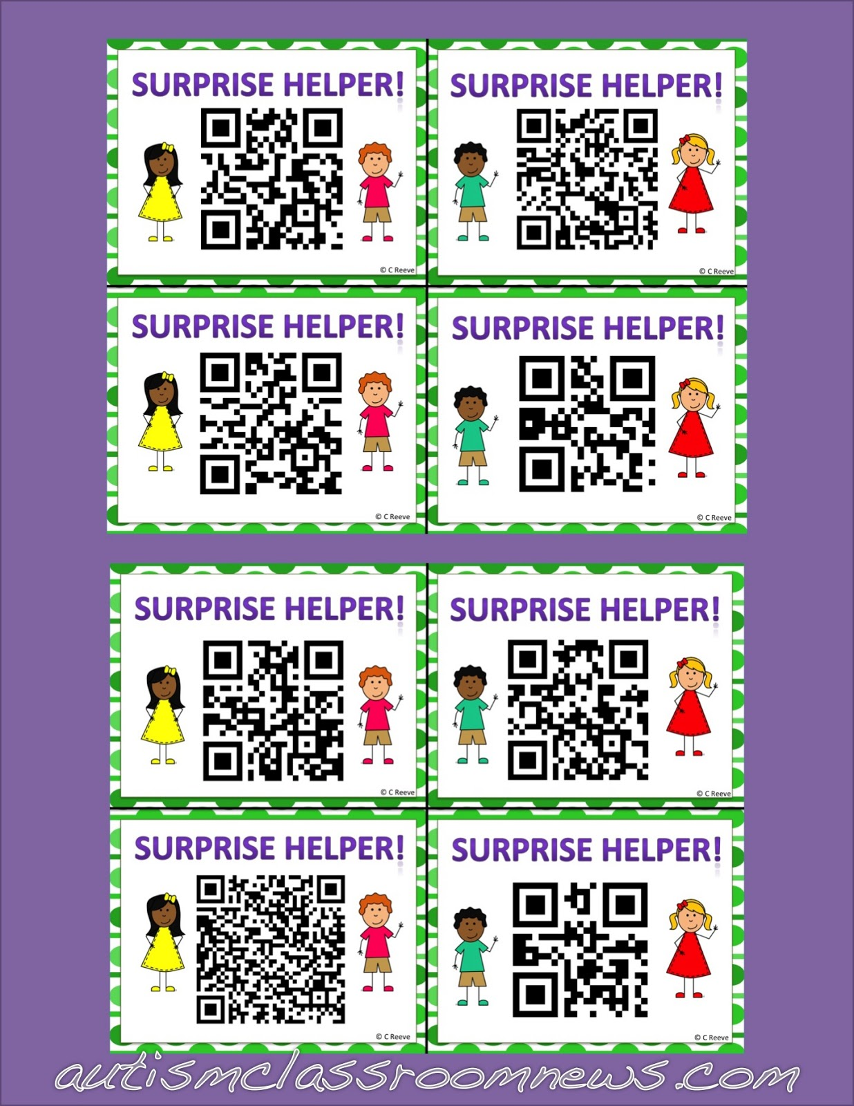Helpers And Behavior Free Qr Helper Cards
