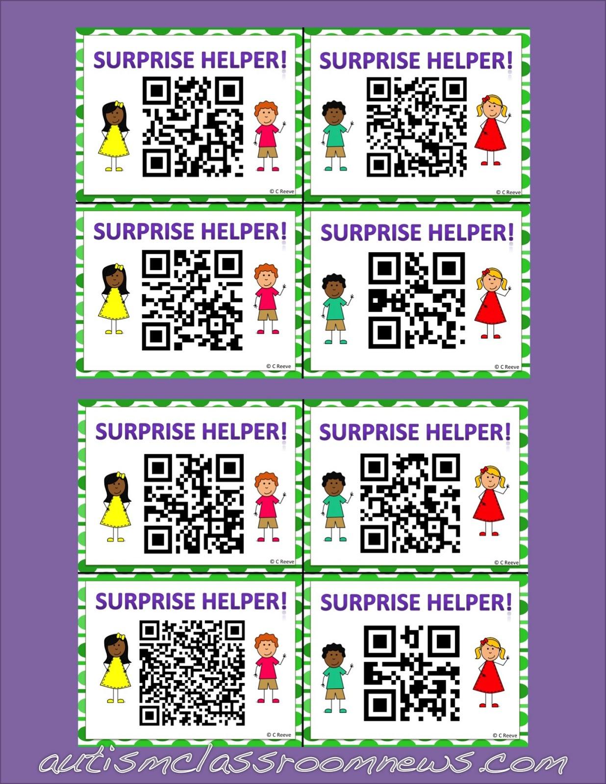 Helpers And Behavior Free Qr Helper Cards