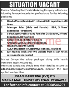 Latest Udaan Marketing Private Limited Management Posts 2021