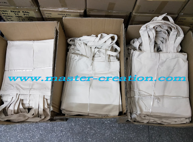 packed cotton bags in carton