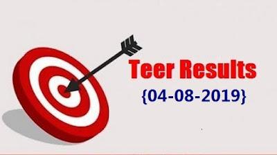 Teer Result 4 August 2019